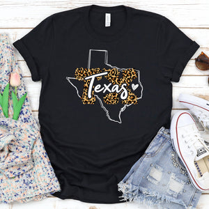 Texas Cheetah State Tee