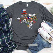 Load image into Gallery viewer, Texas Symbols Long Sleeve