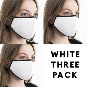 White - Face Mask Three Pack