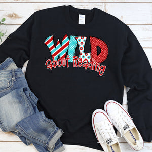 Wild About Reading Crew Neck Sweater