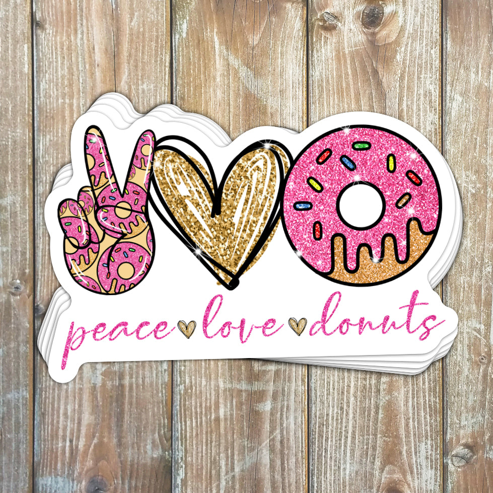 Peace Love Donuts Sticker