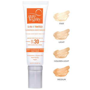 """5 IN 1"" Natural Moisturizing Face Sunscreen SPF 30 - Lulette Clean Beauty"