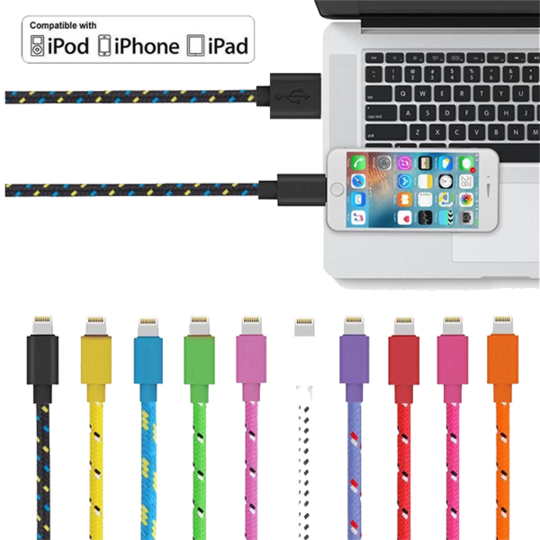 Braided Extra Long 10ft Lightning Cable For iPhone & Android
