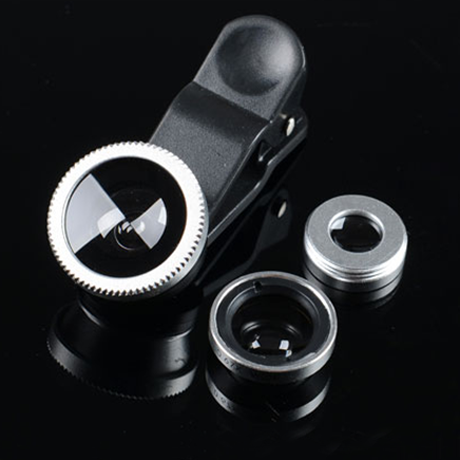 3-piece camera lens attachment set for iPhone or Android
