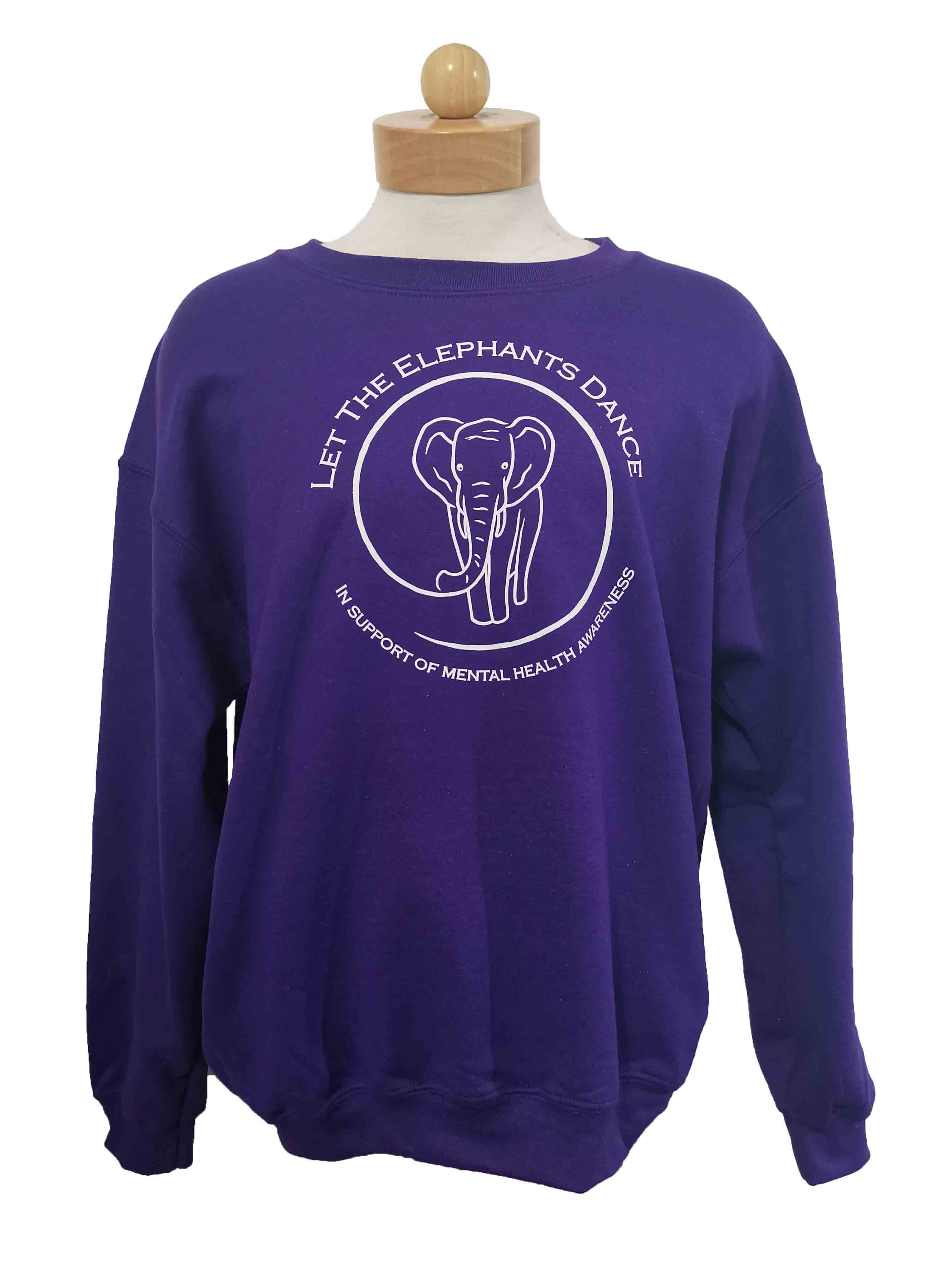 Let the Elephants Dance Crewneck Sweater