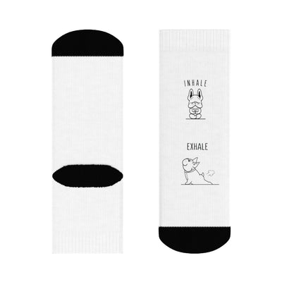 Inhale - Exhale French Bulldog Socks