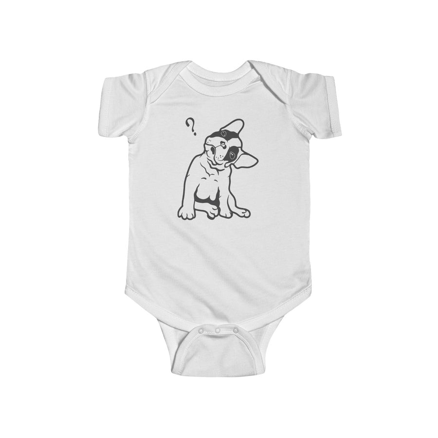 Pink baby Bodysuit with a cute french bulldog on