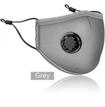 Load image into Gallery viewer, Washable and Reusable Face Mask with a Breathing Valve and 1 Active Carbon Filters.