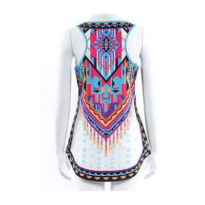 Azteca Tank Top In Colorful Vintage Print