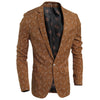 Solid Color lattice Pattern Blazers