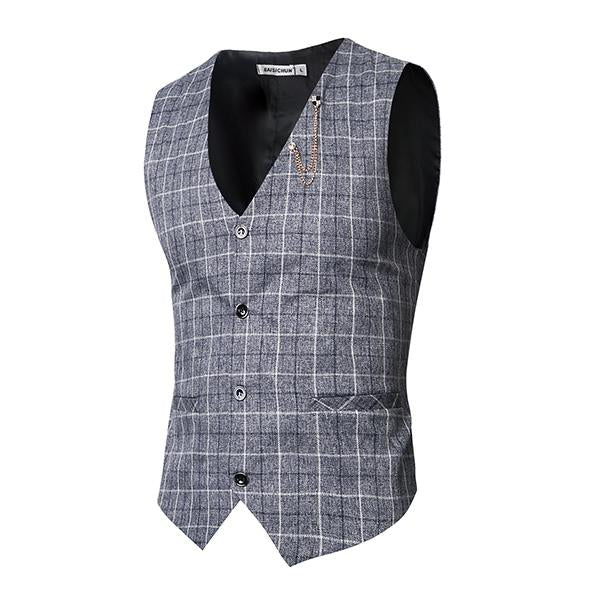 High Quality Plaid Vest