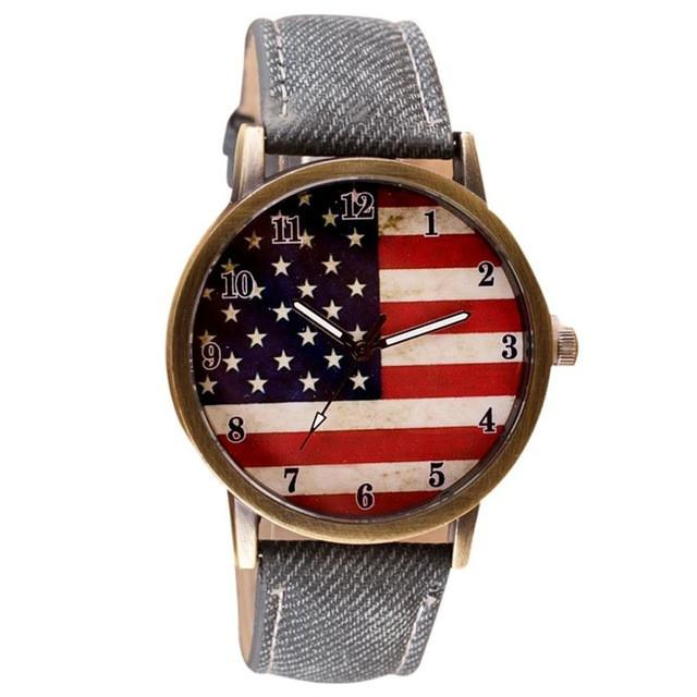 Women's Watches With Flag Design