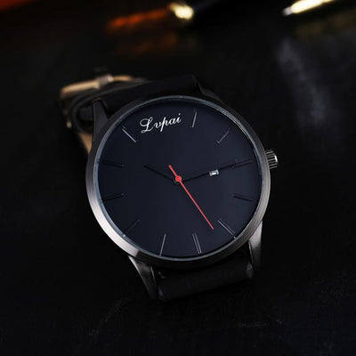 Men's Leather Wristwatch