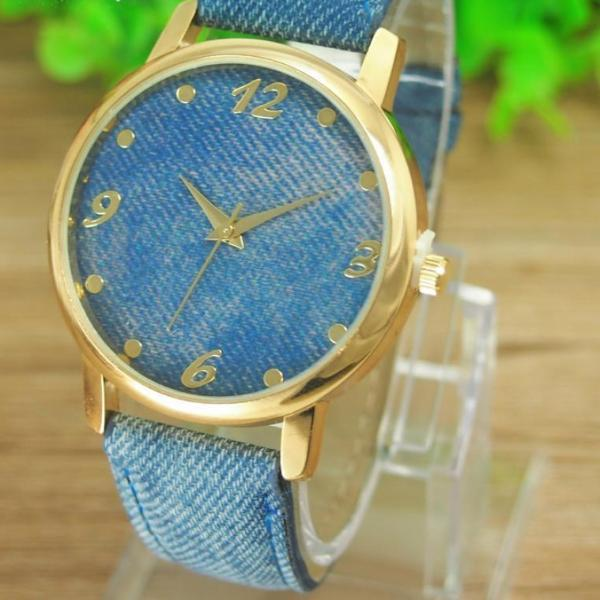 Denim Cloth Alloy Watch
