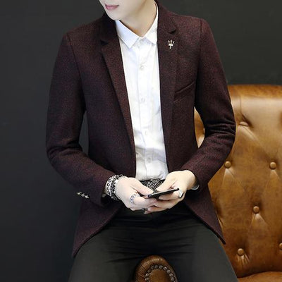 Notched Lapel Plain Blazer