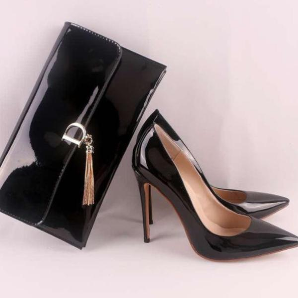 High Quality High Heels With Handbag
