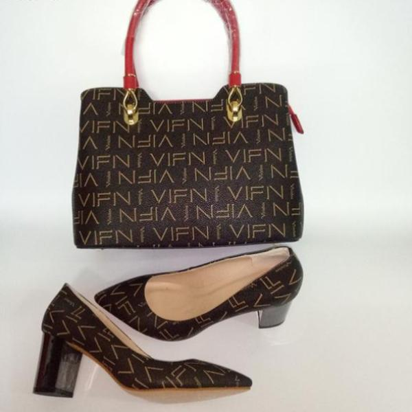 High Quality Designer High Heel's With Matching Handbag