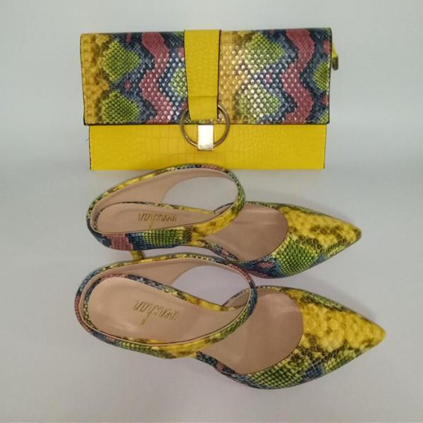 Low Heel Slipper's With Matching Clutch Bag