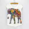 Flower Elephant Printed T-Shirt