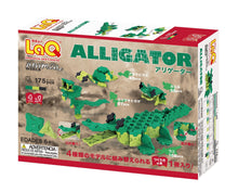 Load image into Gallery viewer, Alligator package back view from the LaQ animal world set