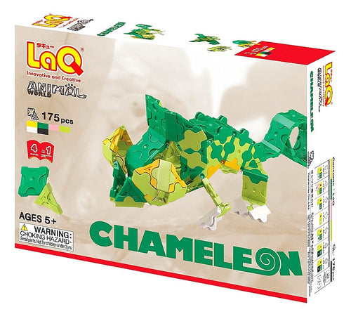Chameleon package front view from the LaQ animal world set