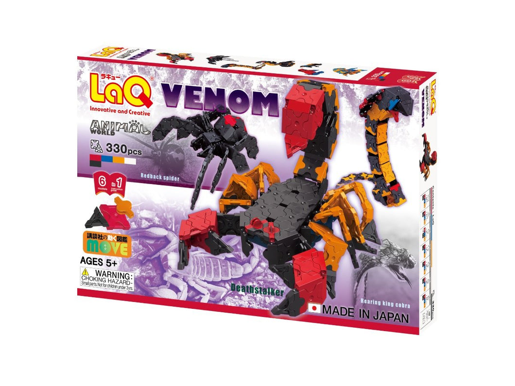 Package front view featured in the LaQ animal world venom set