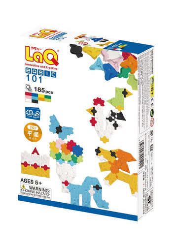 Package front view featured in the LaQ basic 101 set