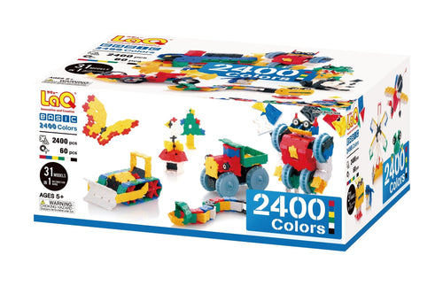 Package featured in the LaQ basic 2400 colors set