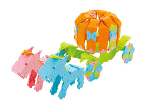 Pumpkin carriage featured in the LaQ basic 2400 pastel set