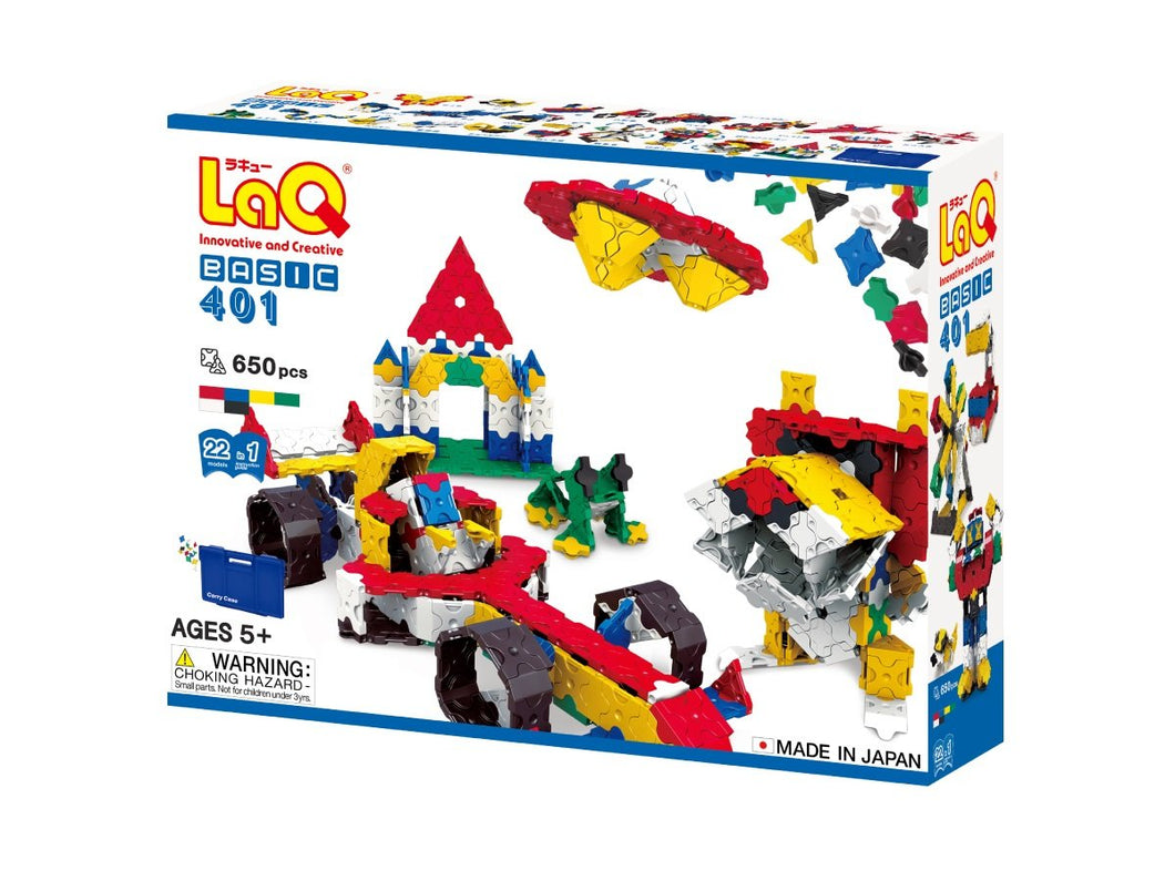 Package front view featured in the LaQ basic 401 set