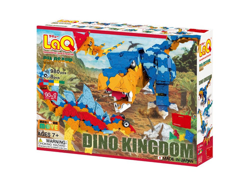 Package front view small featured in the LaQ dinosaur world dino kingdom set