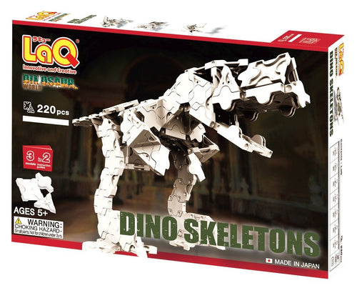 Package front view featured in the LaQ dinosaur world skeleton set