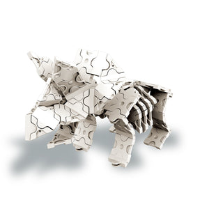 Triceratops featured in the LaQ dinosaur world skeleton set