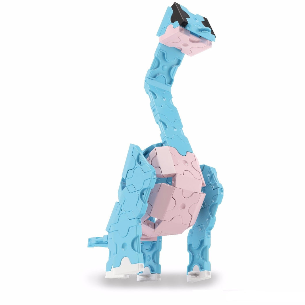 Front view right side featured in the LaQ dinosaur world mini brachiosaurus set