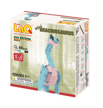 Load image into Gallery viewer, Package back view featured in the LaQ dinosaur world mini brachiosaurus set