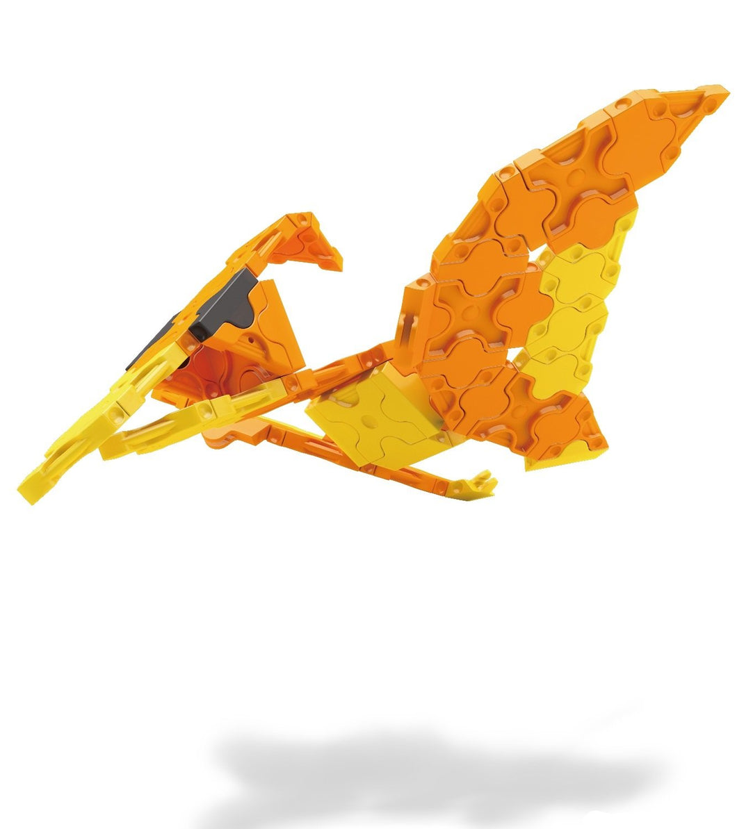 Flying side view featured in the LaQ dinosaur world mini pteranodon set