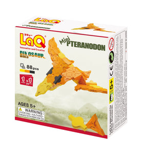 Package front view featured in the LaQ dinosaur world mini pteranodon set