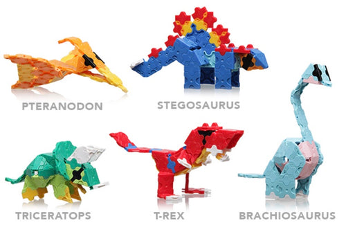 laq dinosaur world mini sets all models including t rex, stegosaurus and triceratops