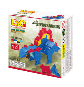Package front side featured in the LaQ dinosaur world mini stegosaurus set