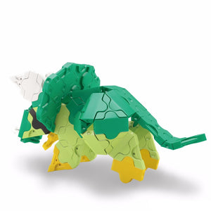 Back view featured in the LaQ dinosaur world mini triceratops set