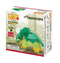 Load image into Gallery viewer, Package back view featured in the LaQ dinosaur world mini triceratops set