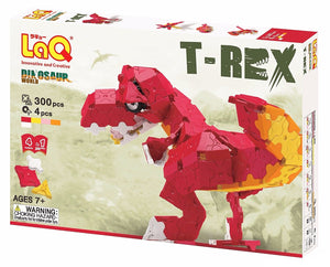 Package front side featured in the LaQ dinosaur world trex set