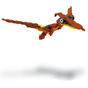 Flying pteranodon featured in the LaQ dino triceratops set