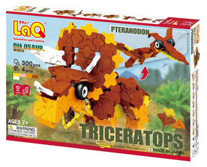 Triceratops and pteranodon dinosaurs package