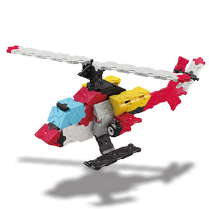 Helicopter featured in the LaQ hamacron constructor express set