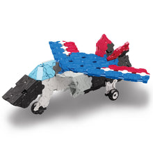 Load image into Gallery viewer, Jet fighter featured in the LaQ hamacron constructor express set
