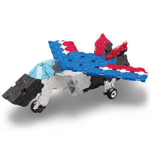 Jet fighter featured in the LaQ hamacron constructor express set