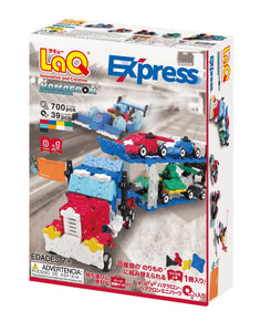 Package backview featured in the LaQ hamacron constructor express set