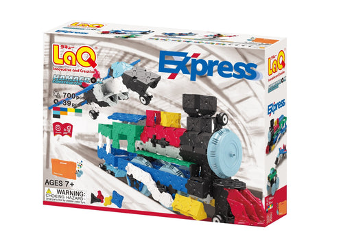 Package front view featured in the LaQ hamacron constructor express set