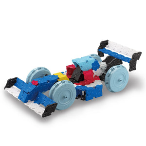 Race car featured in the LaQ hamacron constructor express set